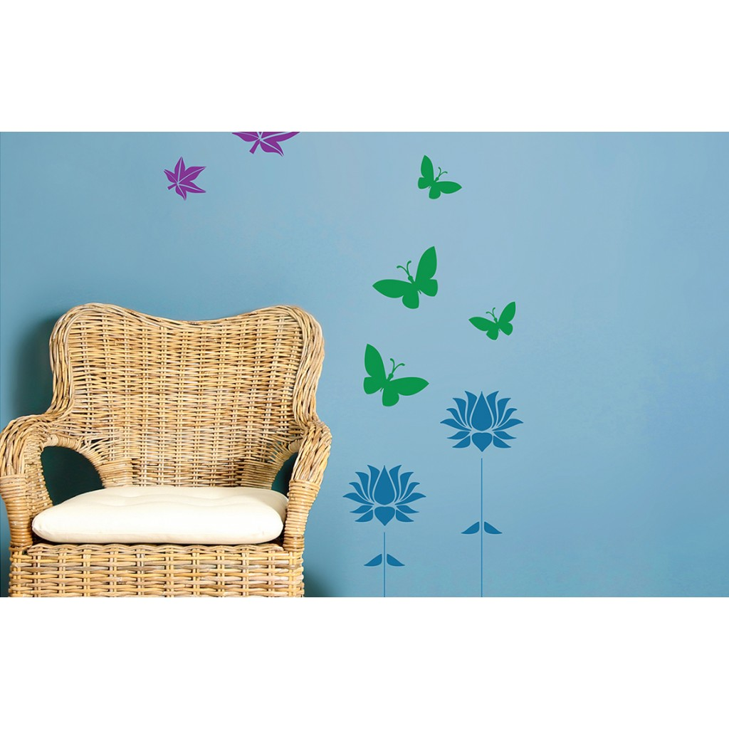 Combo stencil kit 1 asian paints wall fashion stencil for Wall paint buy online