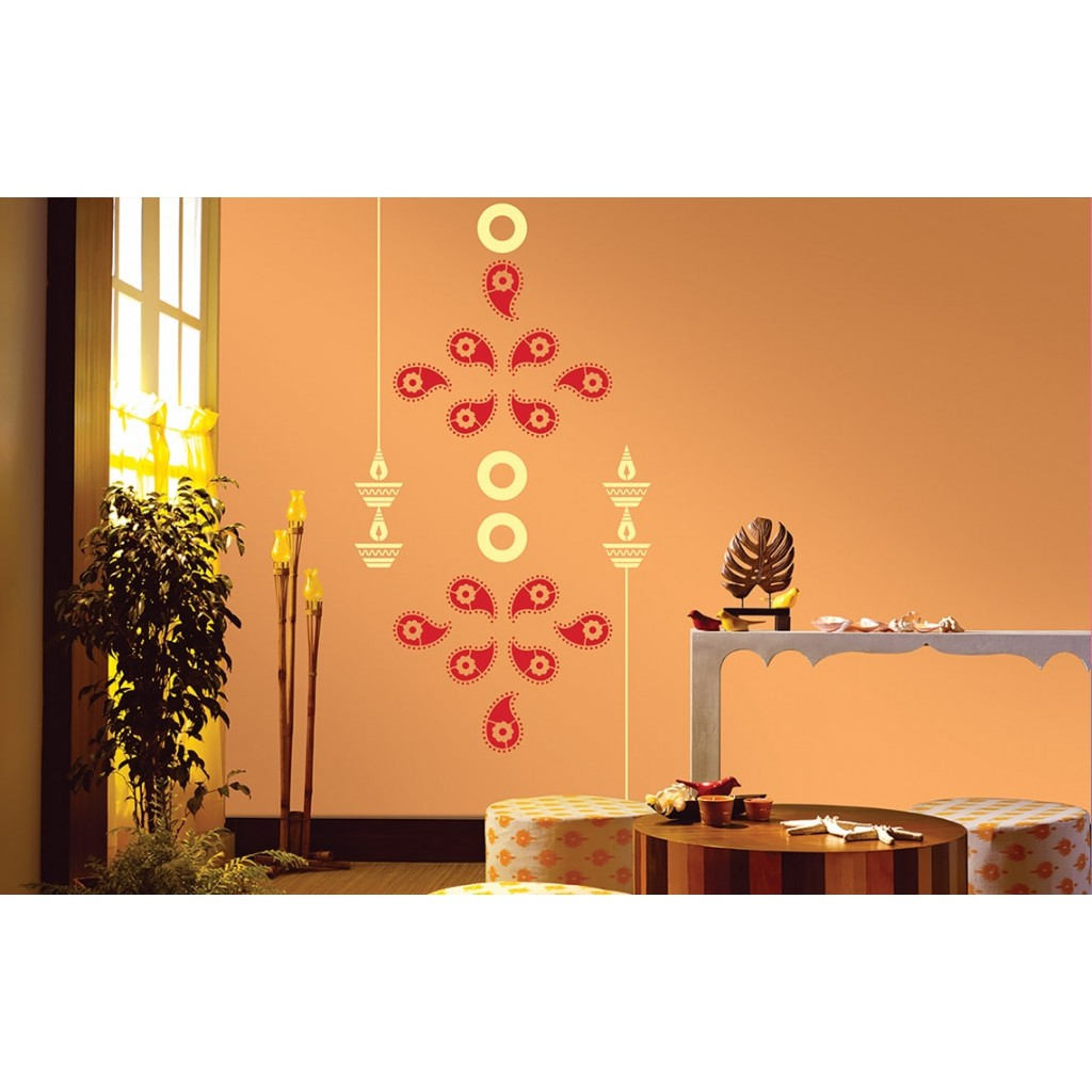 Bedroom Stencils Devotional Combo Asian Paints Wall Fashion Stencil Buy