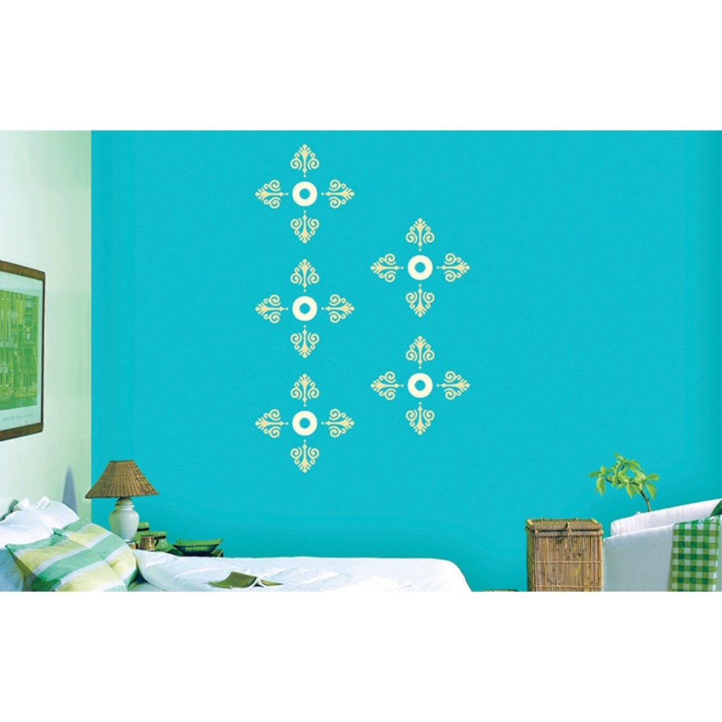 Devotional combo asian paints wall fashion stencil buy for Wall paint buy online