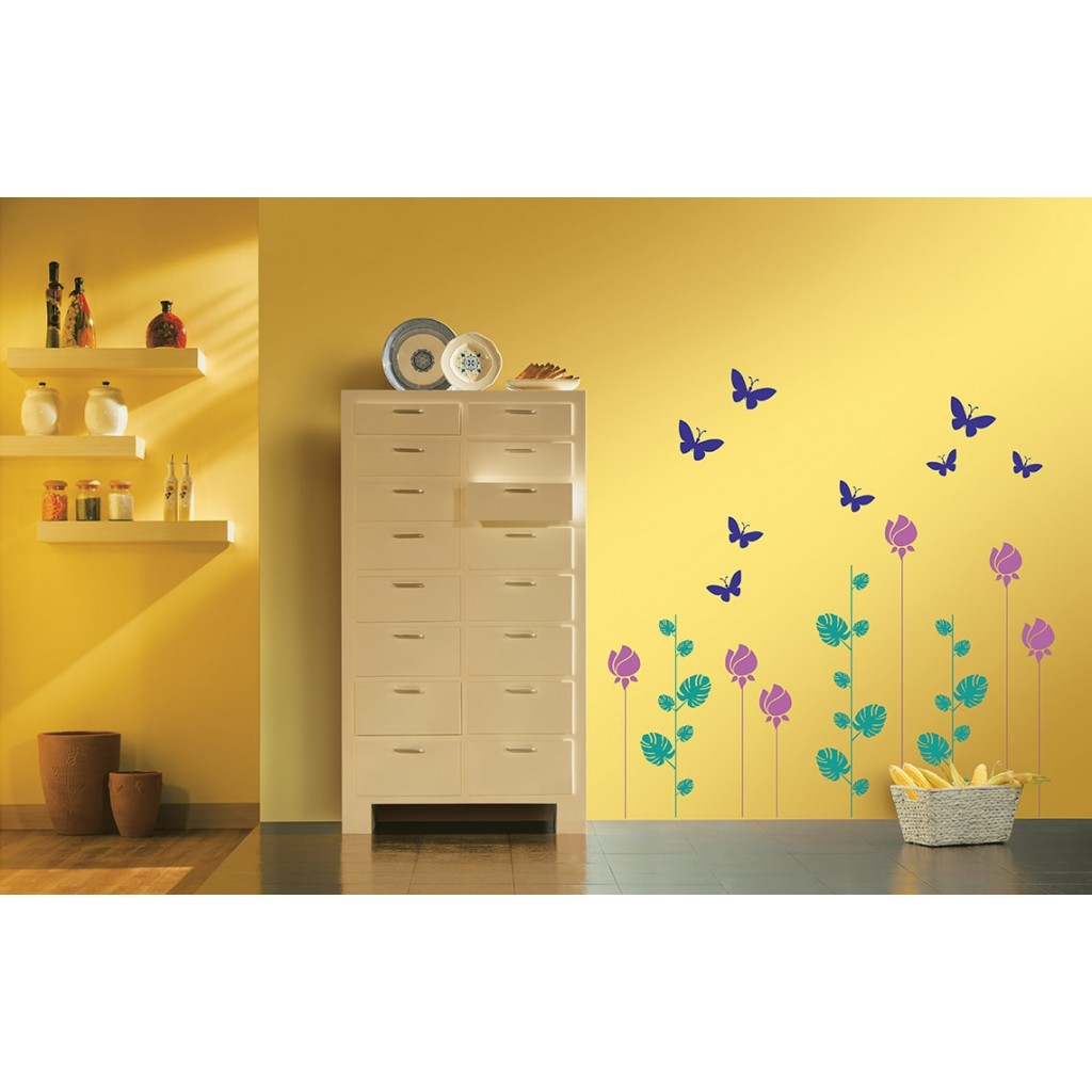 Nature combo asian paints wall fashion stencil buy online for Wall paint buy online