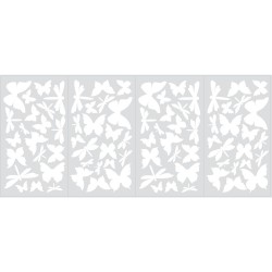 Nilaya Decal Wall Sticker - Butterflies & Dragonflies Glow in the Dark