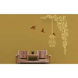 Ornami - Flight of Freedom - Asian Paints Wall Fashion Stencil