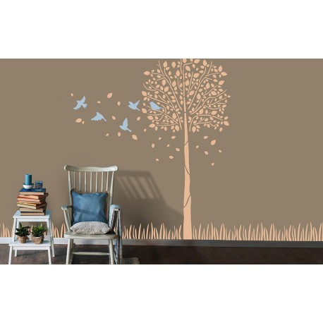 Ornami - Winged Ascent - Asian Paints Wall Fashion Stencil