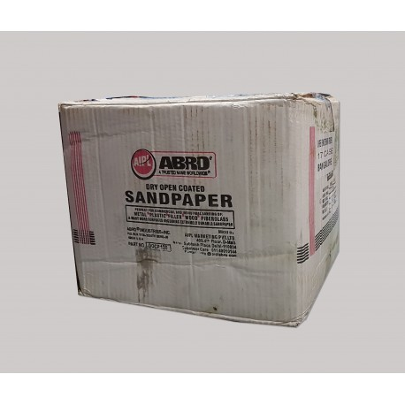 Abro 100 Grit - Box of 500 Sheets - Dry Sanding Aluminium Oxide Paper