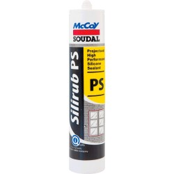 Box of 24pc - McCoy Soudal High Performance Silicon Sealant Silirub PS Clear 280ml