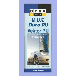 Duco PU Metaliics Shade Card