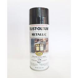 Rust-Oleum Stops Rust Protective Enamel - Metallic Black Night 340g