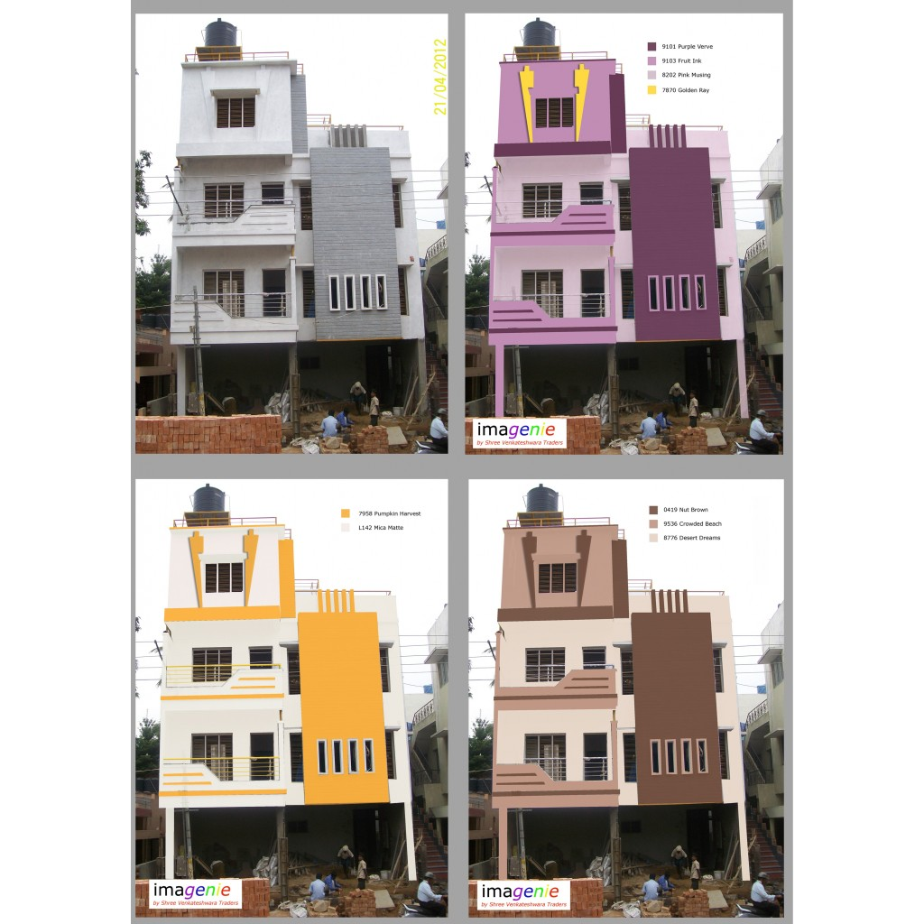 Front Elevation Colour Combination : Imagenie