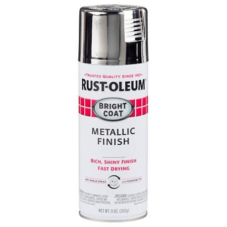 Rust-Oleum Stops Rust Protective Enamel - Metallic Bright Coat Chrome 312g