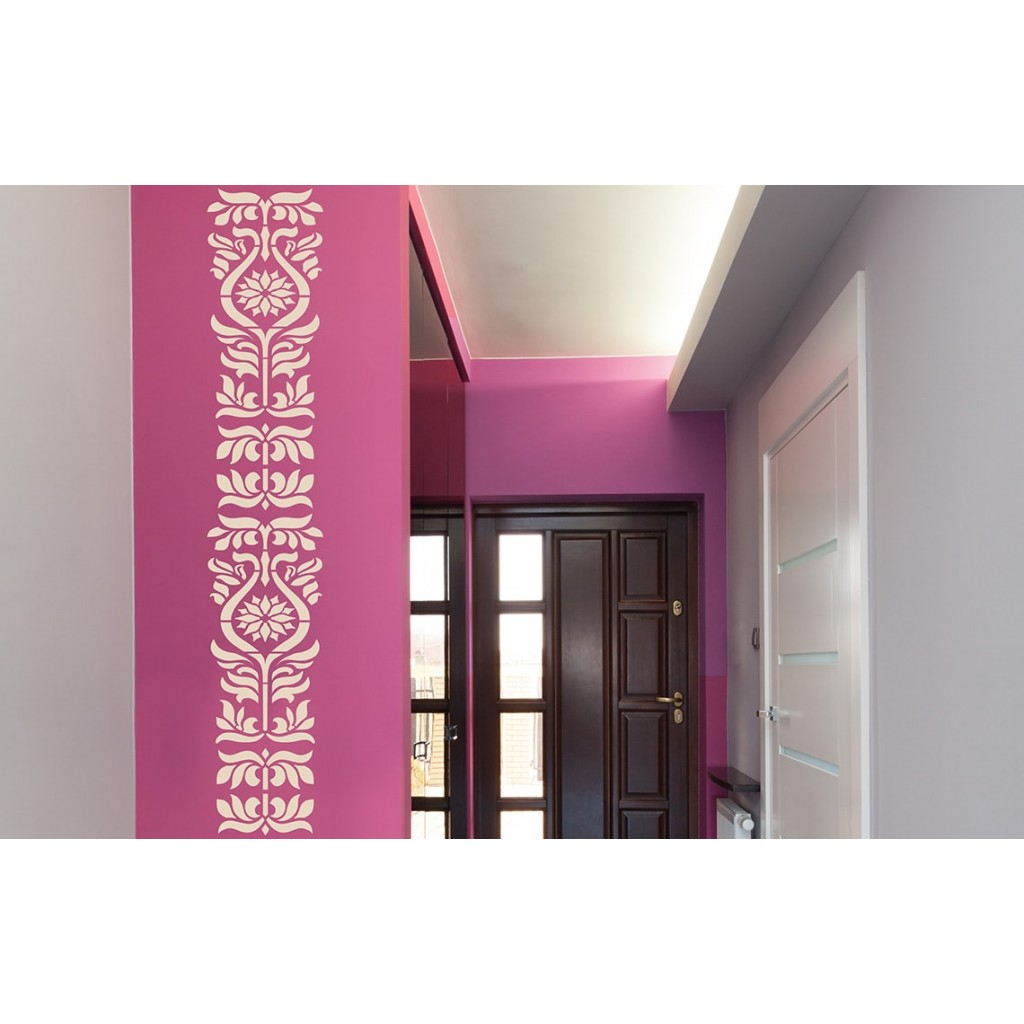 Eastern ornaments asian paints wall fashion stencil for Wall paint buy online