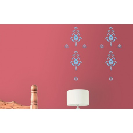 Bouquet - Asian Paints Wall Fashion Stencil