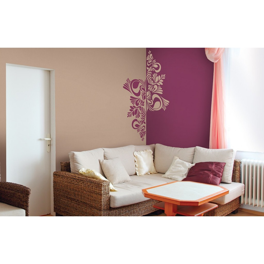 Nascent corolla asian paints wall fashion stencil buy for Wall paint buy online