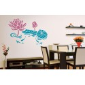 Tranquil Lagoon - Asian Paints Wall Fashion Stencil