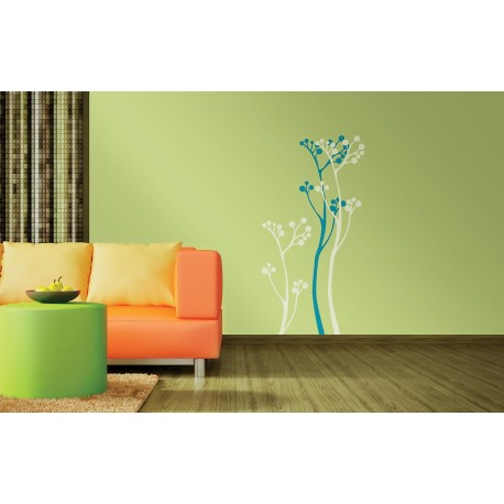 Summer bloom asian paints wall fashion stencil buy online for Wall paint buy online
