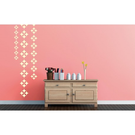 Gypsy beads asian paints wall fashion stencil buy online for Wall paint buy online