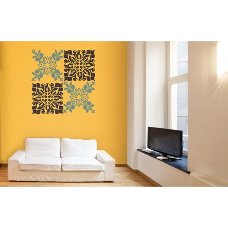 Kaleidoscope - Asian Paints Wall Fashion Stencil - Buy Online