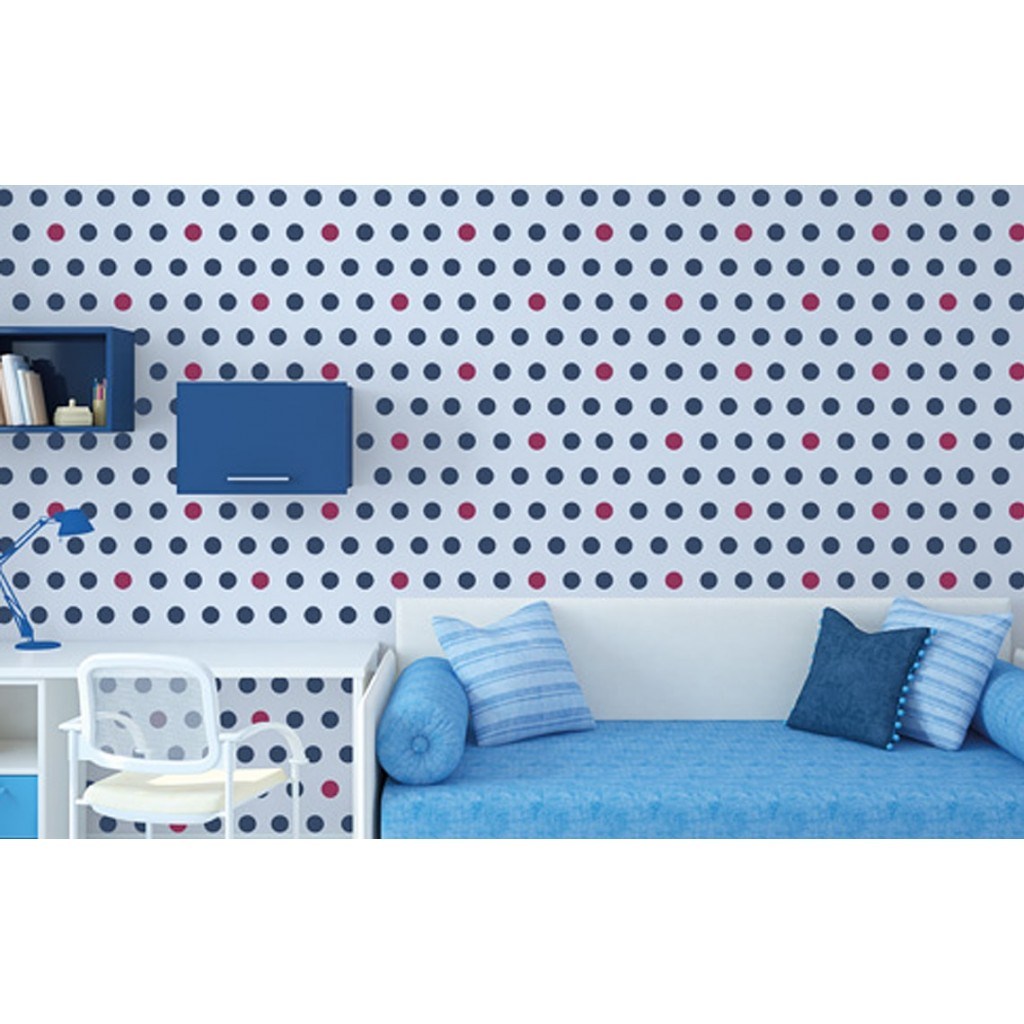 Polka dots asian paints wall fashion stencil buy online for Wall paint buy online