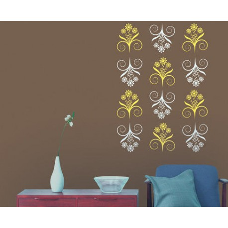 Bliss asian paints wall fashion stencil buy online for Wall paint buy online