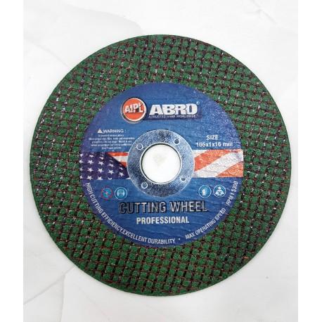 "Abro Cutoff Wheel 4"" (105x1x16)"