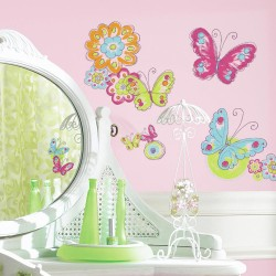 Nilaya Decal Wall Sticker - Brushwork Butterfly