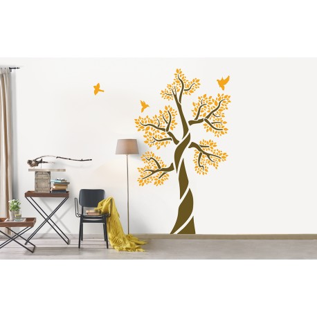 Ornami - Tree Of Life - Asian Paints Wall Fashion Stencil