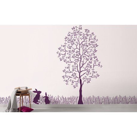 Ornami - Enchanted Forest - Asian Paints Wall Fashion Stencil