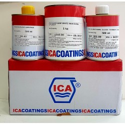ICA PU 3-Part High Gloss White 2Ltr