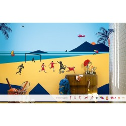 Beach Time Fun - Magneeto Kids World Stencil Kit