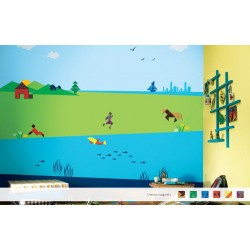 Mind Benders - Magneeto Kids World Stencil Kit