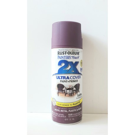 Rust-Oleum 2X Ultra Cover - Satin Aubergine 340g