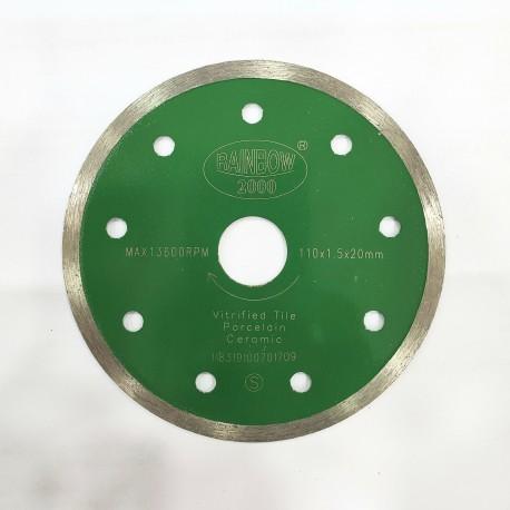 "Rainbow Zero Chipping Stone Cutter Diamond Saw Continuous Rim 105mm - 4"""