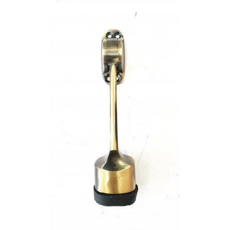 "Door Stopper Brass - Bullet 6"" Antique Finish"