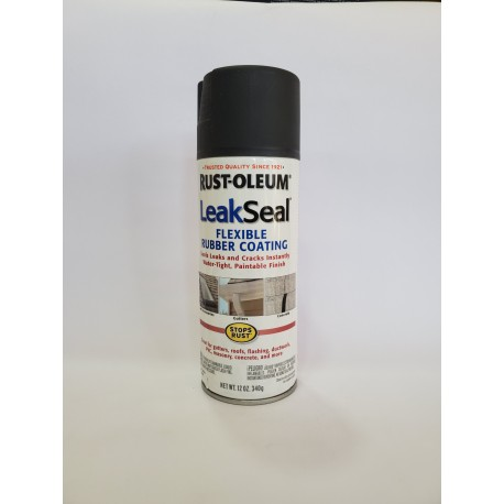 Rust-Oleum LeakSeal Flexible Rubber Spray Sealant - Black 340g