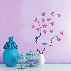Flora - Berger iPaint DIY Wall Stencil Kit
