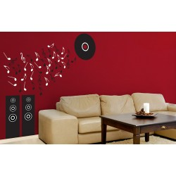 Musical Rhythm - Asian Paints Wall Fashion Stencil