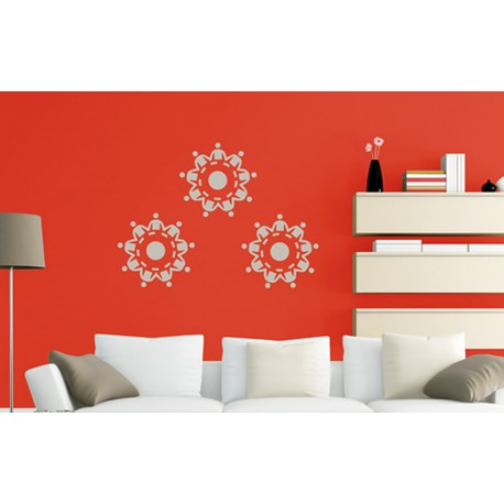 Unity in Harmony - Asian Paints Wall Fashion Stencil
